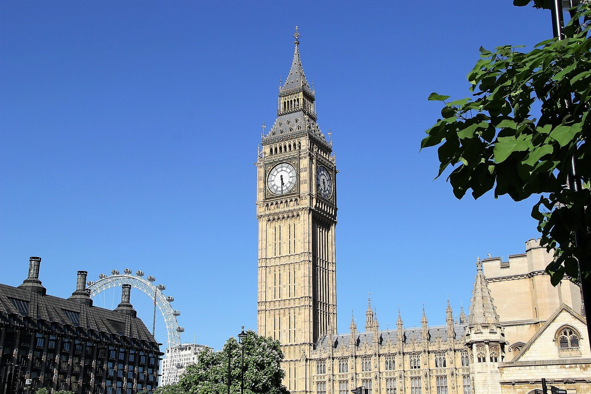 Big Ben is the nickname for the Great Bell of the clock at the north end of the Palace of Westminster in London[